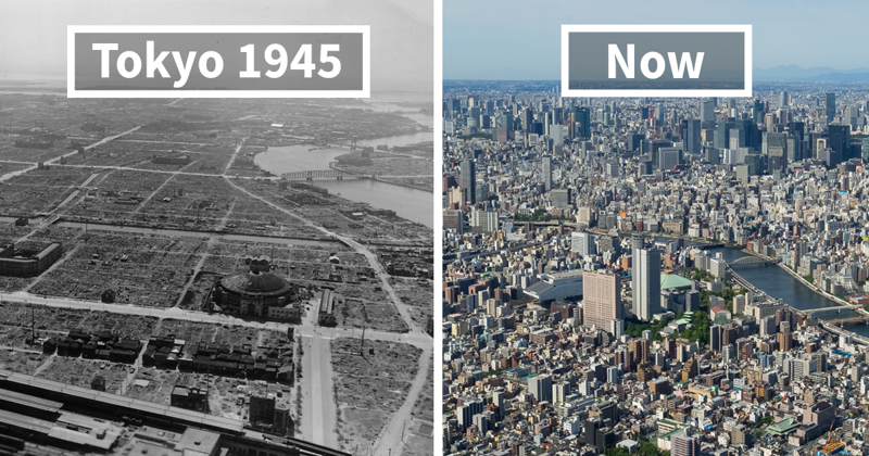 Before-And-After Pics Showing How Famous Cities Changed Over Time