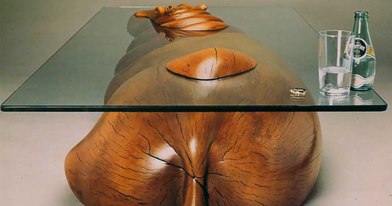 Clever Tables That Create An Illusion Animals Are Emerging From Water