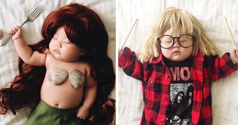 Sleeping Baby Has No Idea She Becomes The Star Of Cosplay During Her Naps