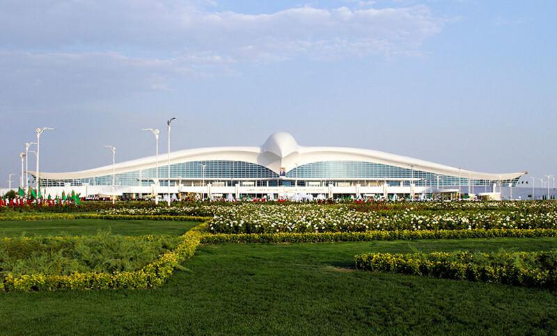 Turkmenistan Opens $2.3 Billion Falcon-Shaped Airport