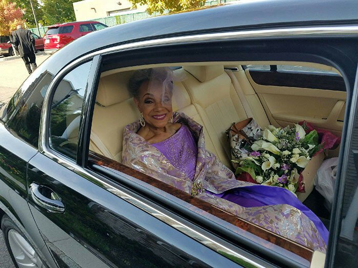 86-Year-Old Grandma Gets Married In A Gorgeous Dress She Designed Herself