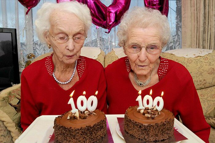 Twin Sisters Celebrate Their 100th Birthday And Reveal Secret To A Long Life