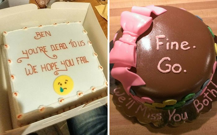 15+ Hilarious Farewell Cakes That Employees Got On Their Last Day At The Office