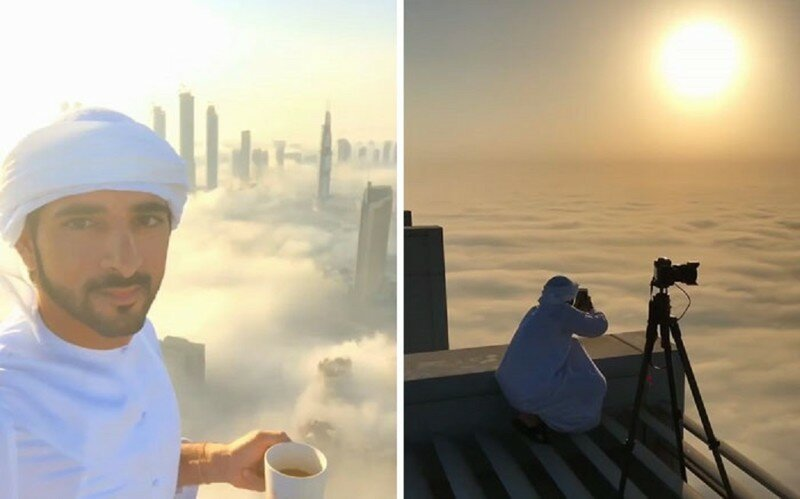Crown Prince of Dubai Captures His City Above The Clouds, And It Will Take Your Breath Away