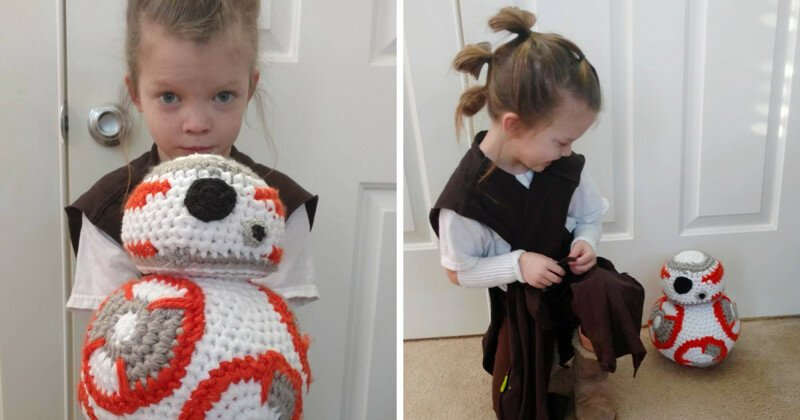 I Crocheted This BB-8 For My Little 'Rey'