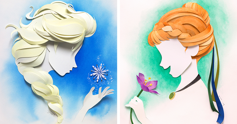 Disney Characters From Layers Of Paper