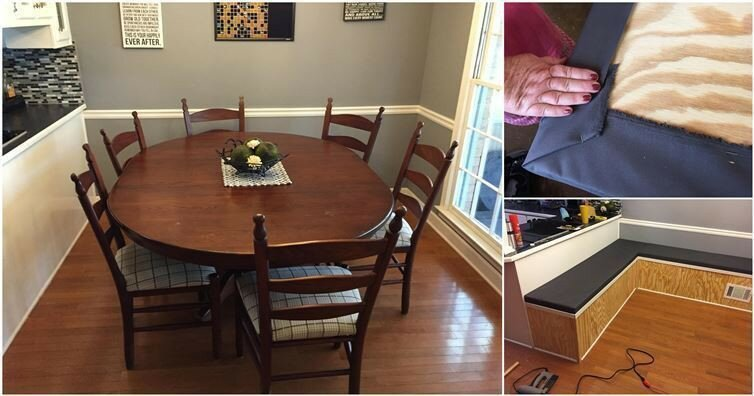 Using Simple Materials, He Transformed His Dining Room