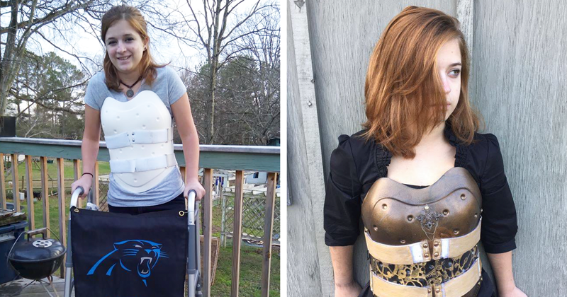 Car Crash Survivor Turns Her Back Brace Into Steampunk Armor