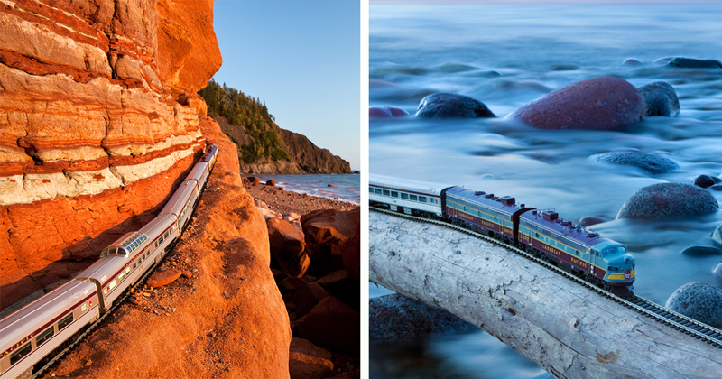 A Miniature Train's Enchanting Journey Through Canada