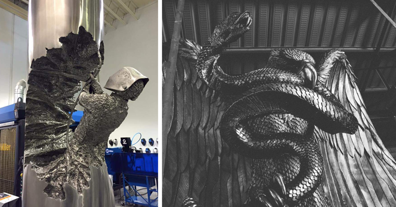 Welder Spends Hundreds Of Hours Turning Metal Into Stunning Art