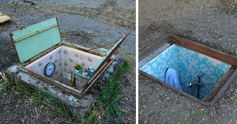 Secret Rooms Installed Inside Abandoned Manholes In Milan
