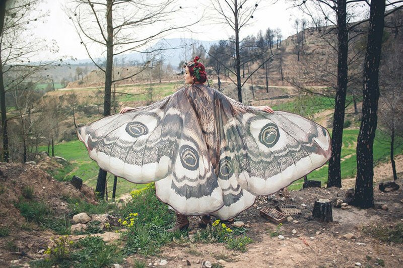 Gorgeous Hand-Drawn Butterfly Scarves Will Give You Wings