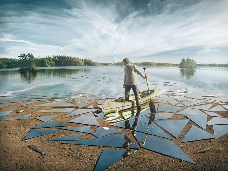 Photographer Uses 17 Square Meters Of Mirror For This Epic Shot