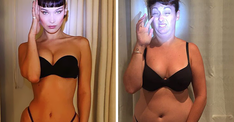 Woman Continues To Hilariously Recreate Celebrity Instagram Pics, And The Result Is Better Than The