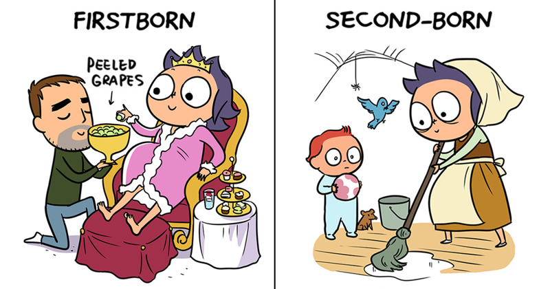 16 Hilariously Honest Comics Reveal The Difference Between Having The First Vs. Second Child