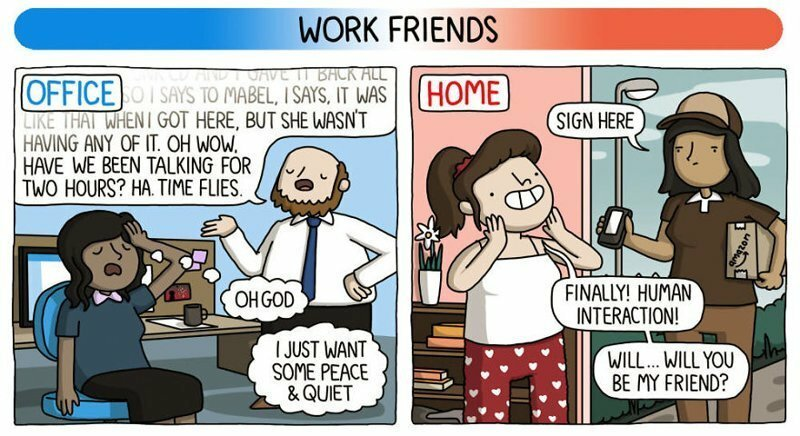 The Differences Of Working From Home Vs Working At An Office Hilariously Explained In 8 Comics