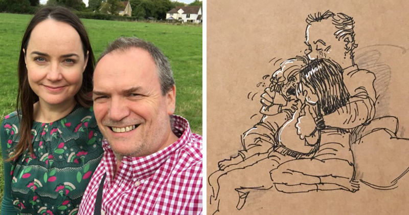 Disney Animator Illustrates Life With Two Children After His Wife Dies, And It Will Break Your Heart