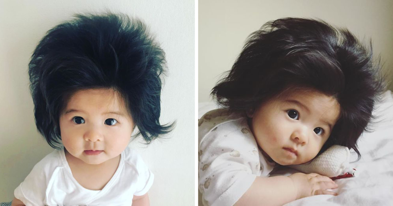 This Girl Is Only Six Months Old, But Her Hair Is Ridiculously Amazing