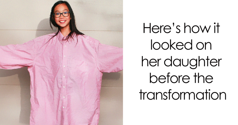 The Way This Mom Transforms Old And Ugly Clothes To Save Money Will Amaze You