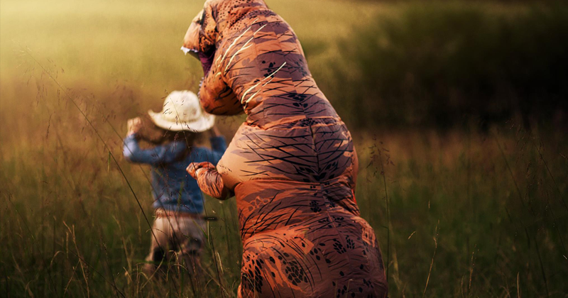 Internet Is Laughing At These Family Pics After Mom Lets Autistic Son Wear T-Rex Suit