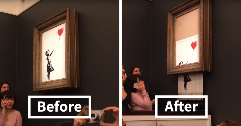 Banksy's Girl With Balloon Is Sold For $1M, But Gets Immediately Shredded