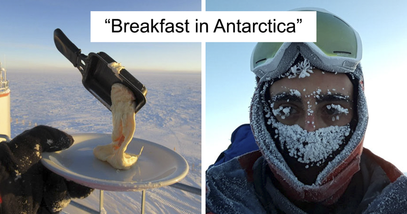Astrobiologist Tries Cooking In Antarctica At -70ºC, And The Result Will Crack You Up