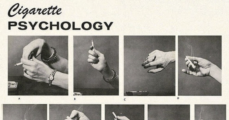 Bizarre 1959 'Cigarette Psychology' Article Explains 9 Ways People Hold Cigarettes And What It Says