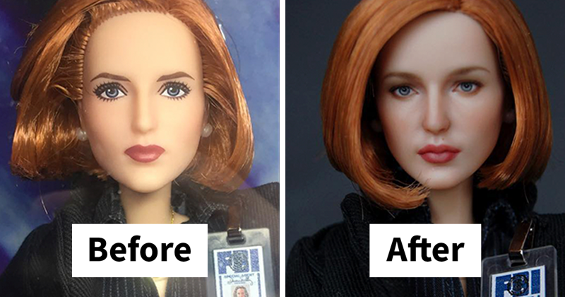 Ukrainian Artist Removes Makeup From Dolls To Repaint Them In A Very Realistic Way