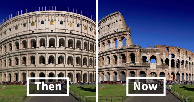 This Is How These 11 Famous Ancient Roman Structures Looked In The Past Vs. Now