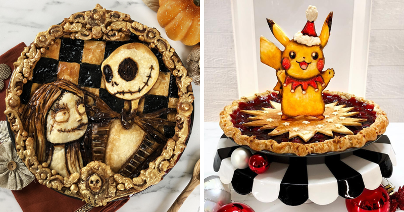 I Bake pop-culture-inspired Pies That Would Be a Sin To Cut