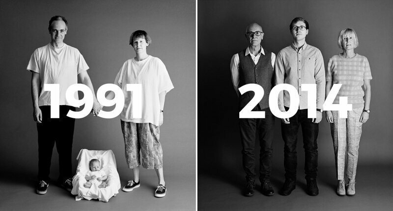 This Photographer Took One Family's Photo In The Same Way Each Year For 23 Years