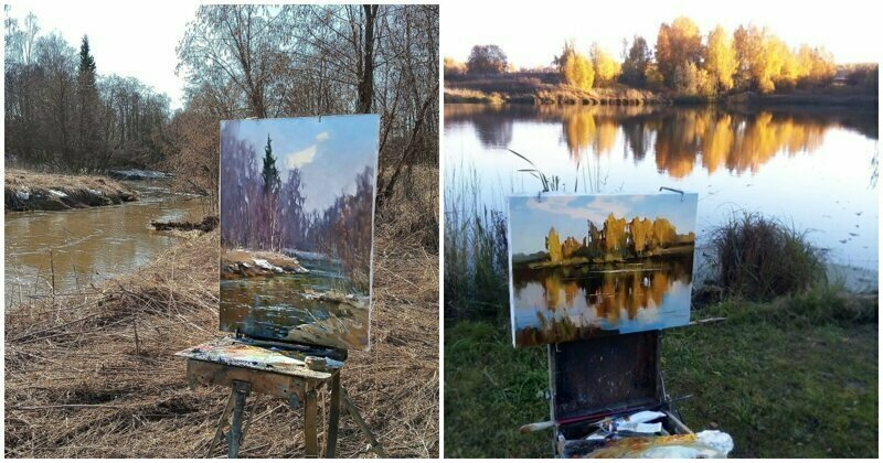 """This Is What I See When I Create Art"": Beautiful Paintings Of Natural Russian Landscapes"