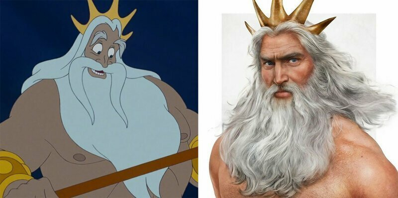 Artist Reimagines 5 Disney Fathers As Real Dads, And They're Hella Handsome