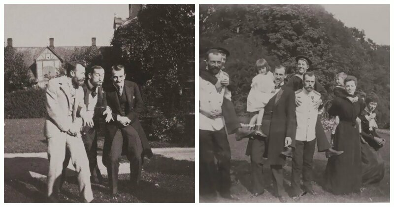 Stunning Rare Photos Of The Emperor Nicholas II Fooling Around With His Friends In 1899