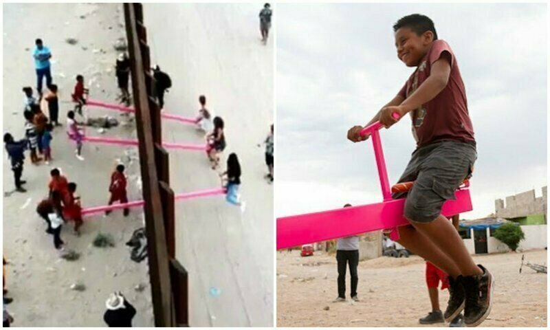 Giant Swings To Abolish The Wall Between The United States And Mexico