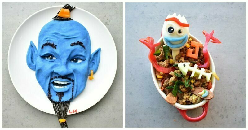 Mom Creates Famous Cartoon Characters From Healthy Meals