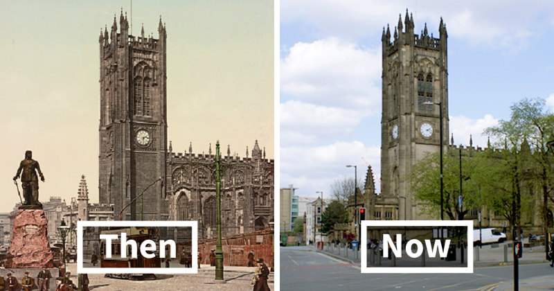 7 Side-By-Side Pics Of The Same Exact Locations In England Show What 125 Years Do To A City