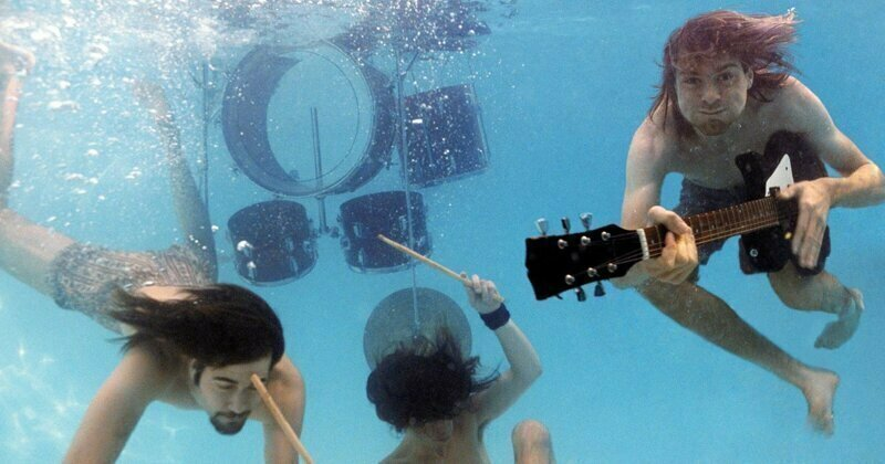 """Float Around"": Photos From Nirvana's Underwater ""Nevermind"" Shoot"