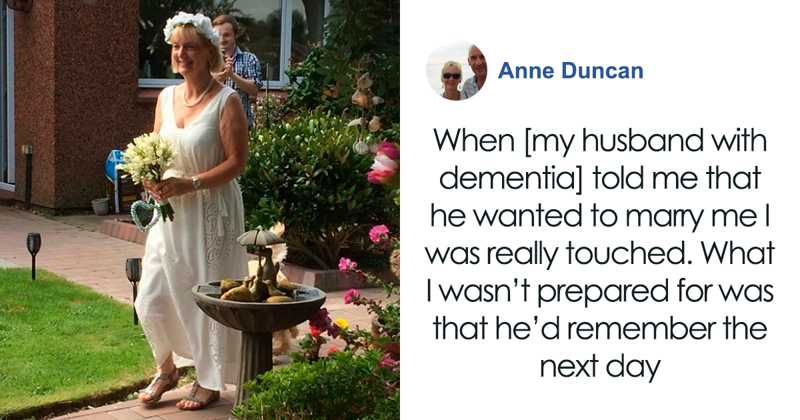 Husband With Dementia Proposes To His Wife Of 12 Years, So She Marries Him Again