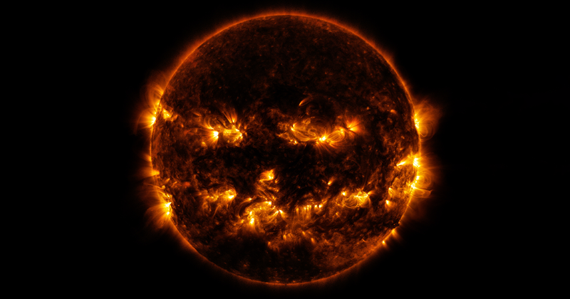 NASA Shares A Picture Of The Sun That Looks Like It Celebrates Halloween Already