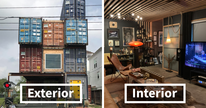 Man Uses 11 Shipping Containers To Build His 2,500 Square Foot Dream House