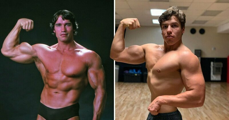 Arnold Schwarzenegger's son Joseph Baena shows off impressive biceps