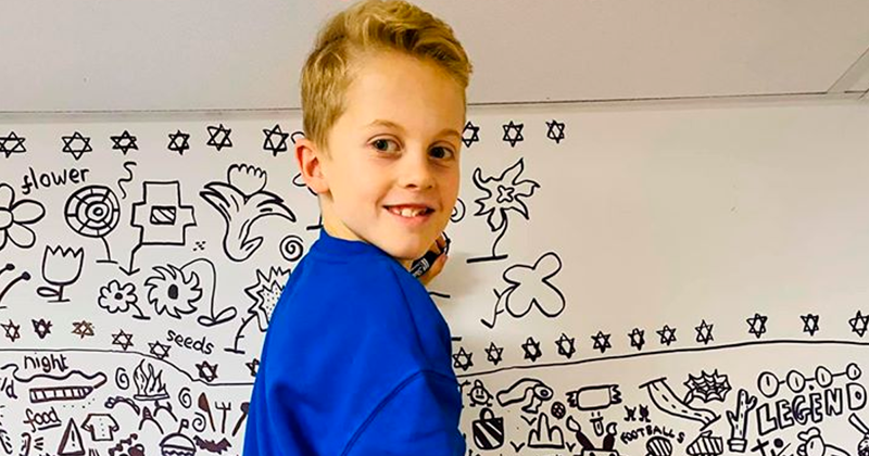 Remember The 9-Year-Old Kid Who Kept Getting In Trouble For Doodling In Class?