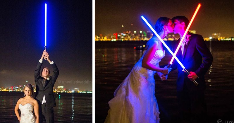 Couple Has Awesome Star Wars-Themed Wedding, And Their Photos Go Viral
