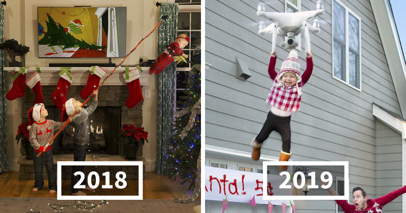 This Family Started Doing 'Real Life' Christmas Cards 6 Years Ago And They Get Crazier