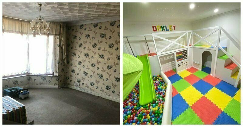 Dad Builds A Playroom For His Son And The Before & After Photos Show Real Handyman Skills