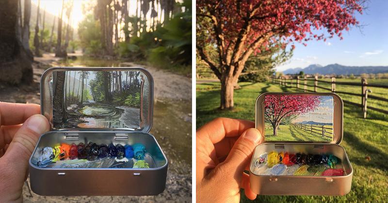 Artist Creates 30 Mini Plein Air Paintings In Altoids Tins