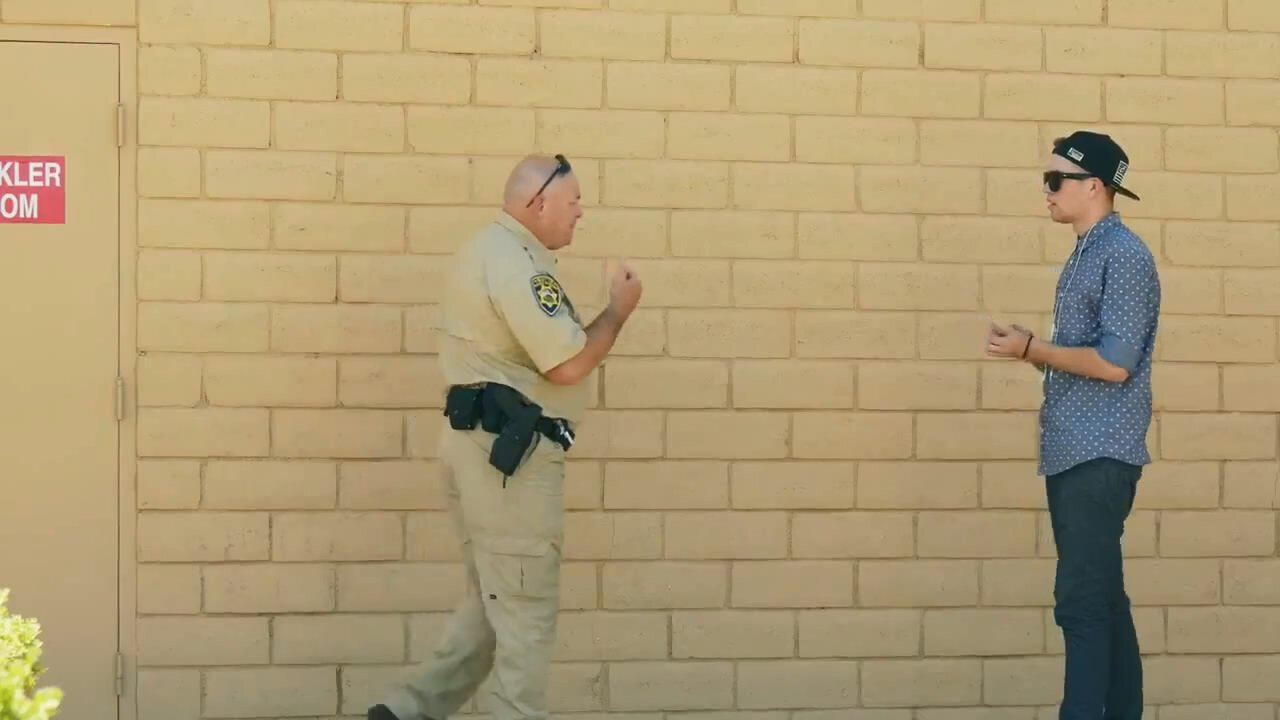 Прикол на полицейским
