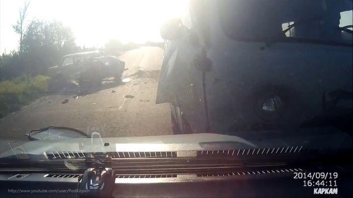 Подборка ДТП и Аварий Октябрь 2014 #110