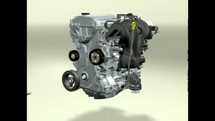 3D работа двигателя внутреннего сгорания